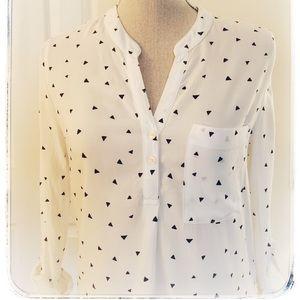 Marks & Spencer size 2 (UK 6) patterned blouse.